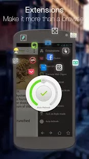 Next Browser for Android smart phones and tablets, change tabs with simple gestures
