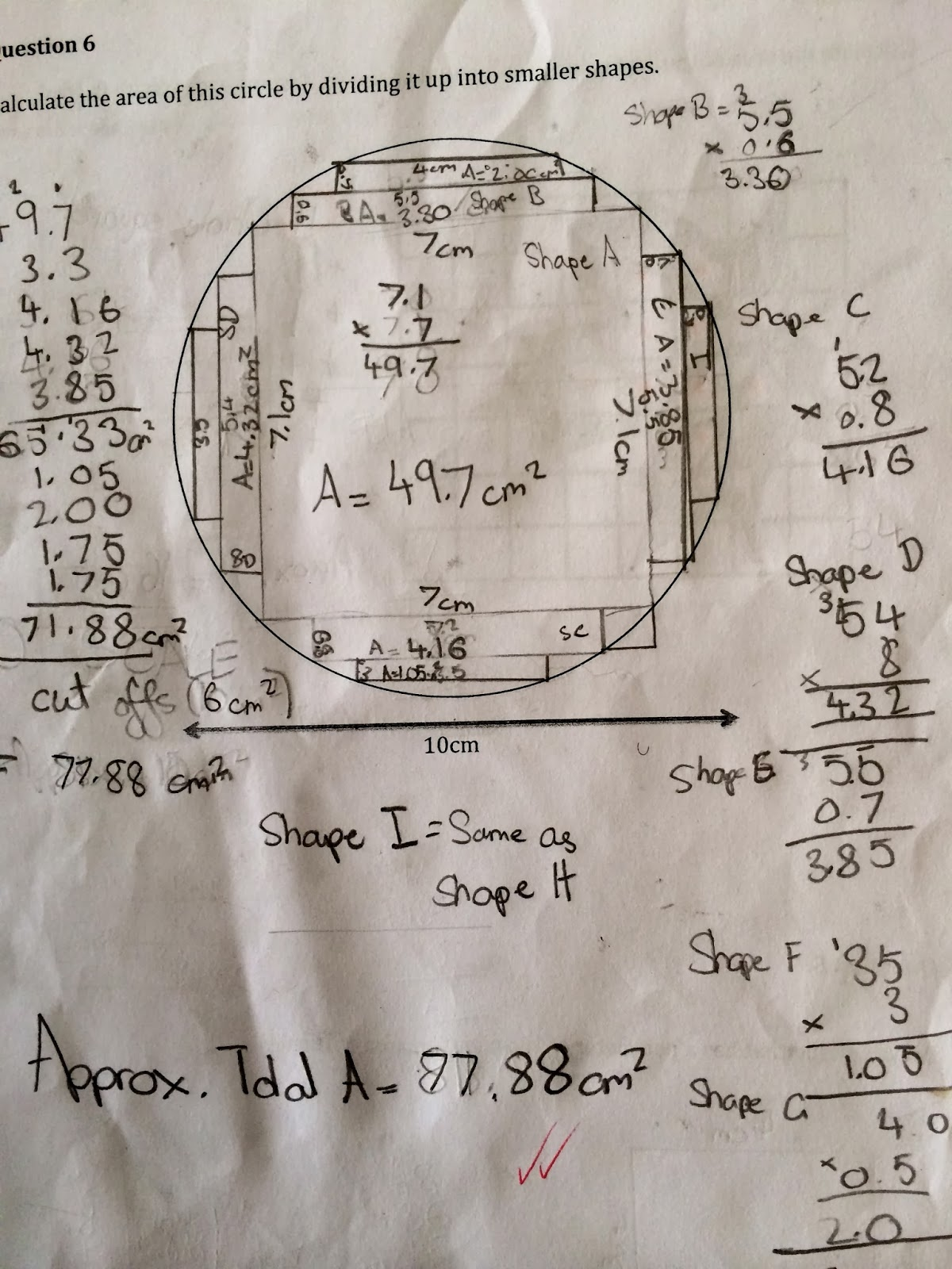 Authentic Inquiry Maths Find The Area Of A Circle Without Using Pi