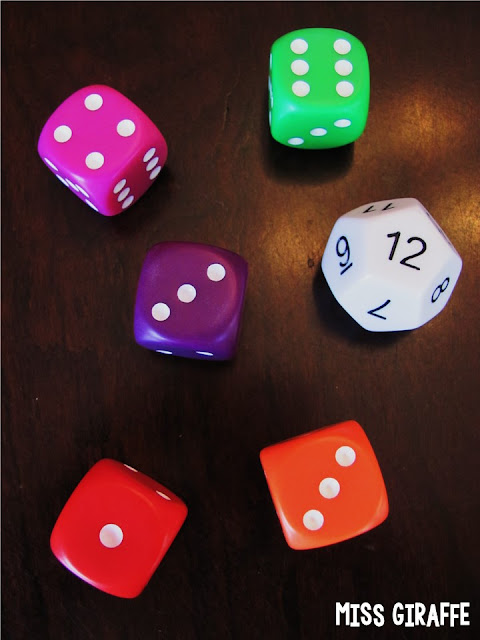 These dice are my favorite for math centers and games... click to see where to get them