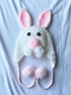 Crochet, Crochet Baby, Crochet Hat, Baby Bunny Crochet Hat