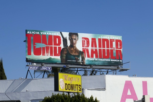 Tomb Raider movie billboard