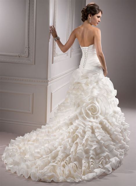 White Rose Gown Perfect Wedding Dress