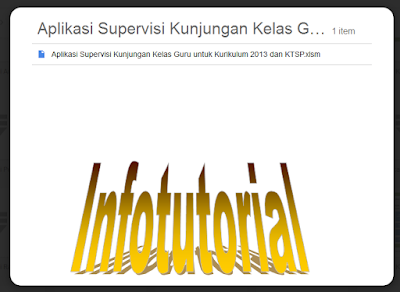 Download File Aplikasi Supervisi Kunjungan Kelas Guru