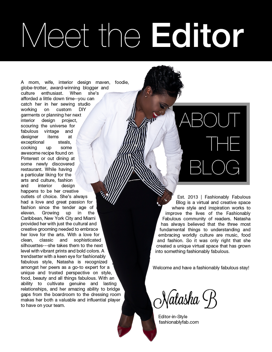 Fashionably Fabulous and Tampa Bay Florida Lifestyle Blogger Natasha Bernard