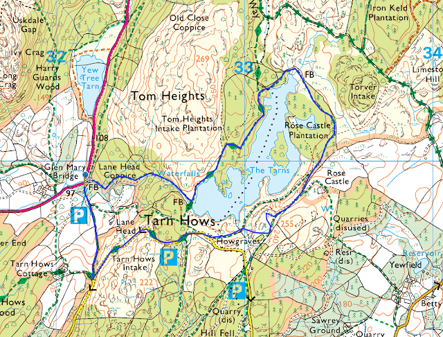 tarn hows walk map best route lake district