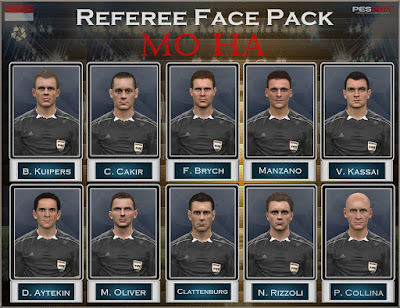 PES 2017 Referee Facepack by Mo Ha