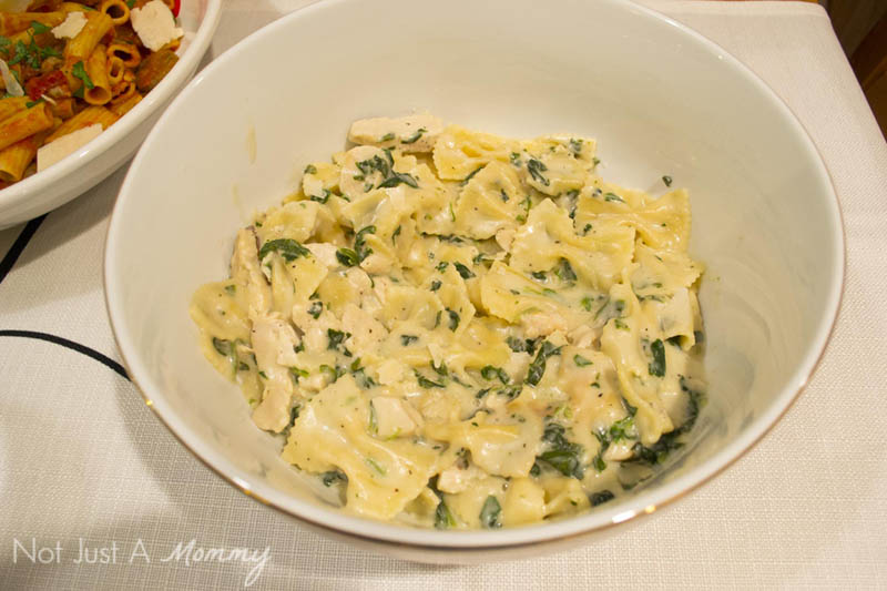 How To Make Your Everyday Dinner Special; Bertolli's Chicken Florentine and Farfalle is one-skillet ease