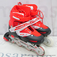 Super Power Inline Skate Sepatu Roda Red