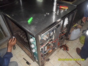Check performance the steam oven