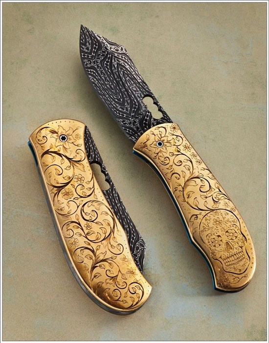 personalized pocket knives Engraver Andrew Ovalles