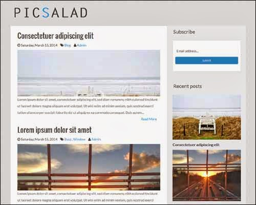 Picsalad Free Responsive Blogger Template