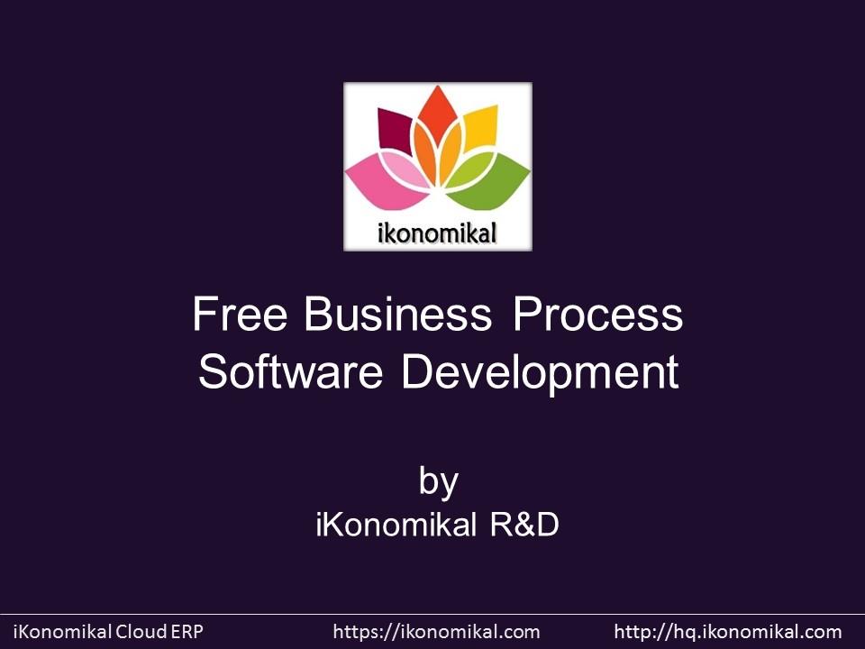 Commercial Software Development : Ikonomikal free business process software development