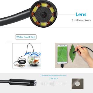 Les différentes caractéristiques de l'endoscope pour Smartphone