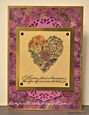 Kindness Shared, Stampin' Up!, Trude Thoman, Throwback Thursday, polished stone technique, vellum, greeting card