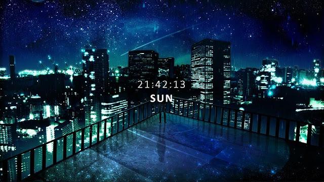 City Skyline - Digital Clock Wallpaper Engine