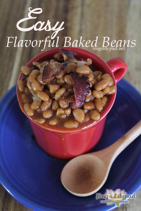 Easy Flavorful Baked Beans l frogslilypad.net