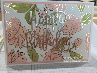 Birthday Card with Springtime Foils Papers.