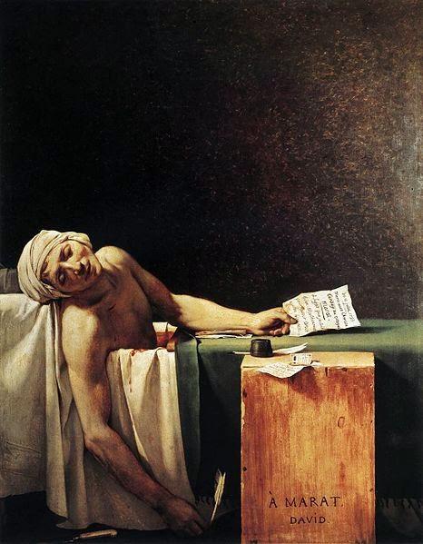 A Morte de Marat - David, Jacques-Louis e suas principais pinturas ~ Representante do neoclassicismo