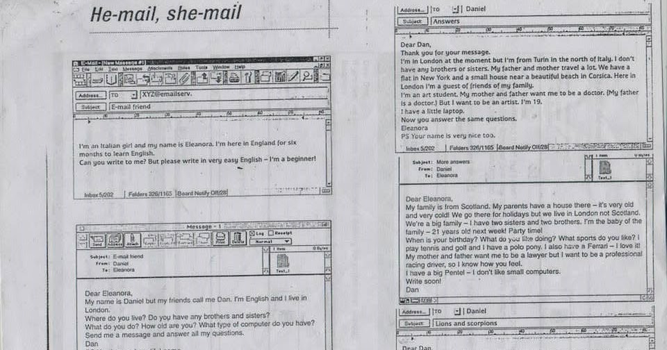 Elementary English R11 / 12: Short Story He-mail, She-mail