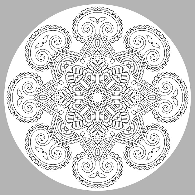 Mandala Adult Coloring Page