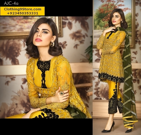 Asim Jofa Luxury Formal Wear Dresses onMysorie/Chiffon