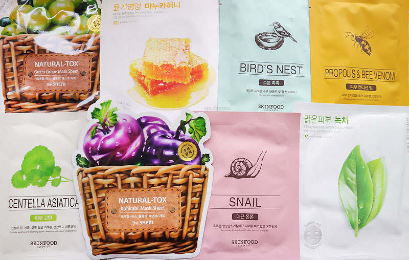 Kbeauty Sheet Face Masks Skincare Haul from Seoul