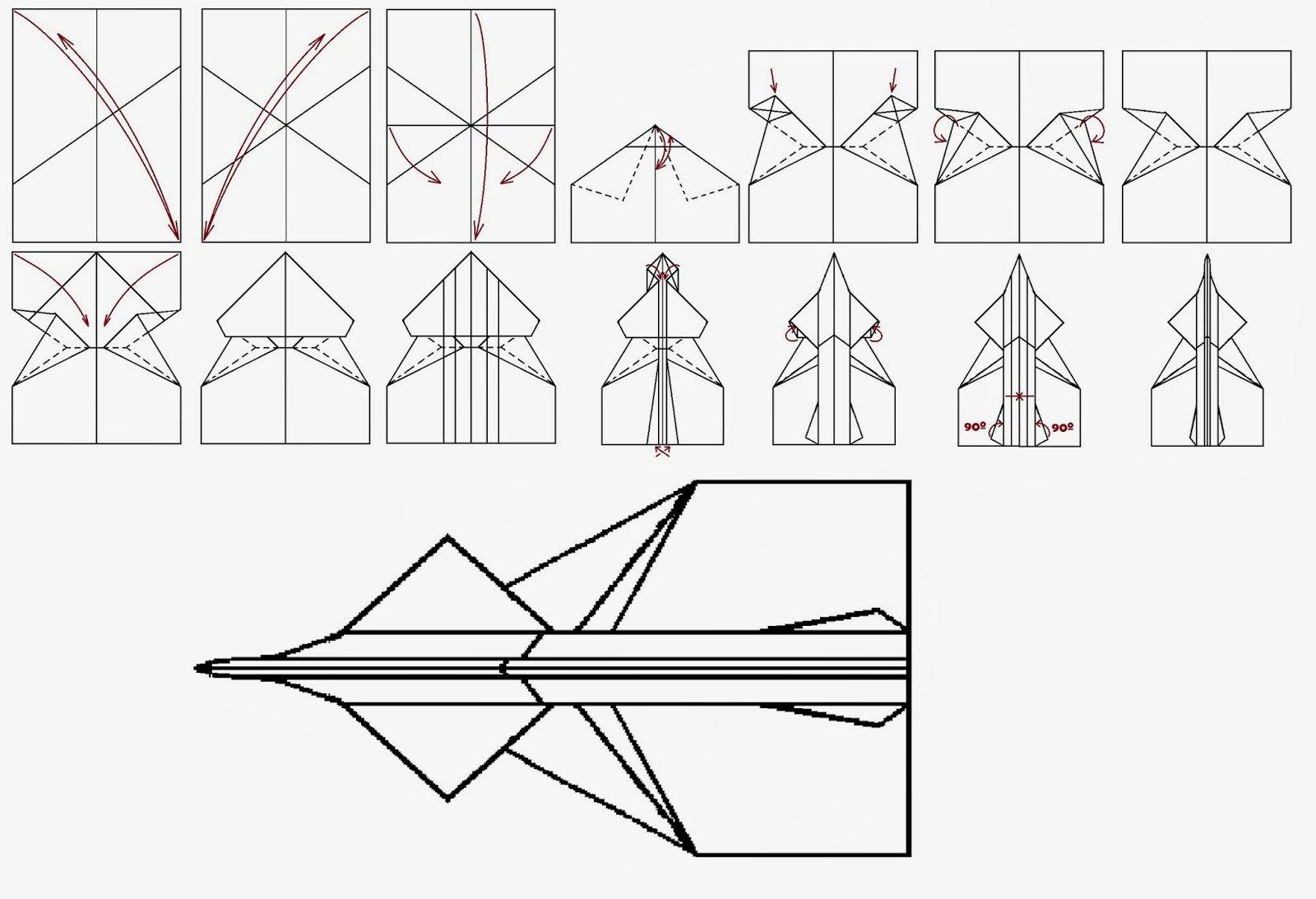 Avión de papel Wing 54