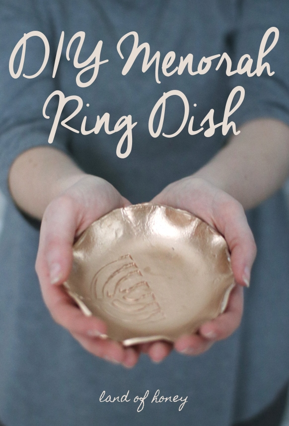 How to make your own menorah ring dish from air dry clay   Land of Honey