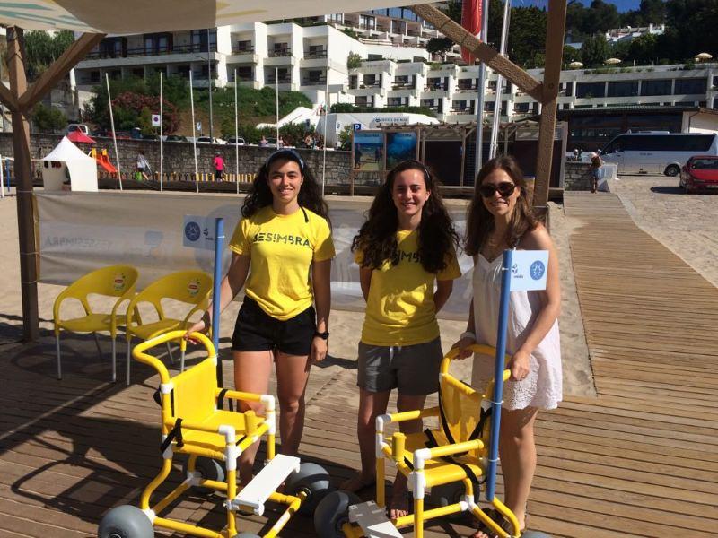 Cadeiras de rodas para a praia