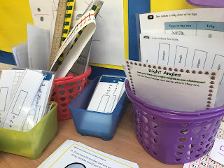 primary school maths area resources for children and working wall