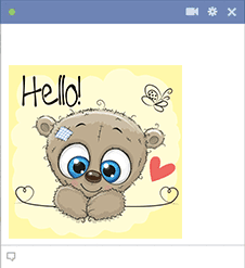 Hello Teddy Emoji