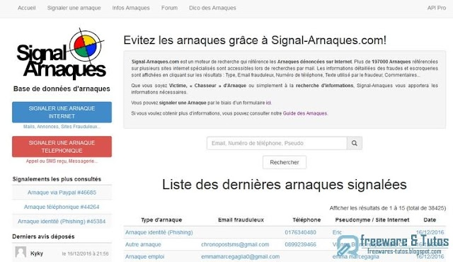 Le site du jour : Signal-Arnaques.com