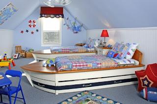 habitación náutica para niños