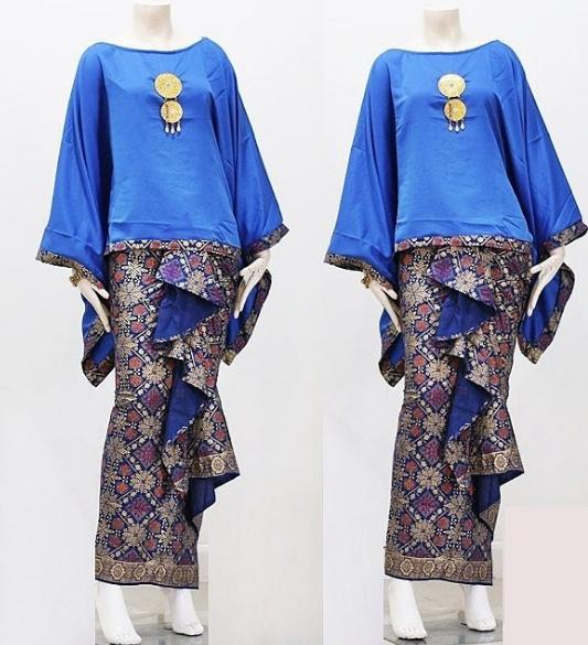 gambar model baju gamis batik remaja atasan polos couple