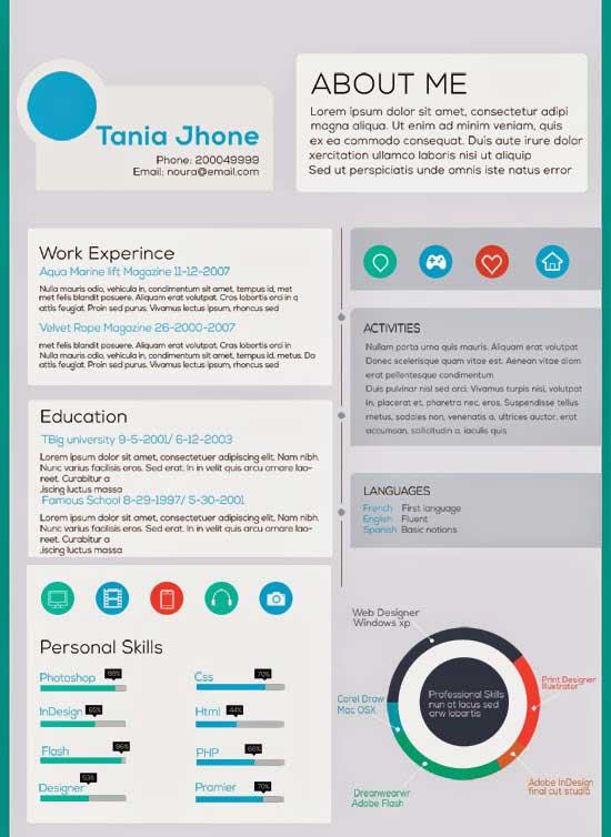 Free Creative Resume Template 25