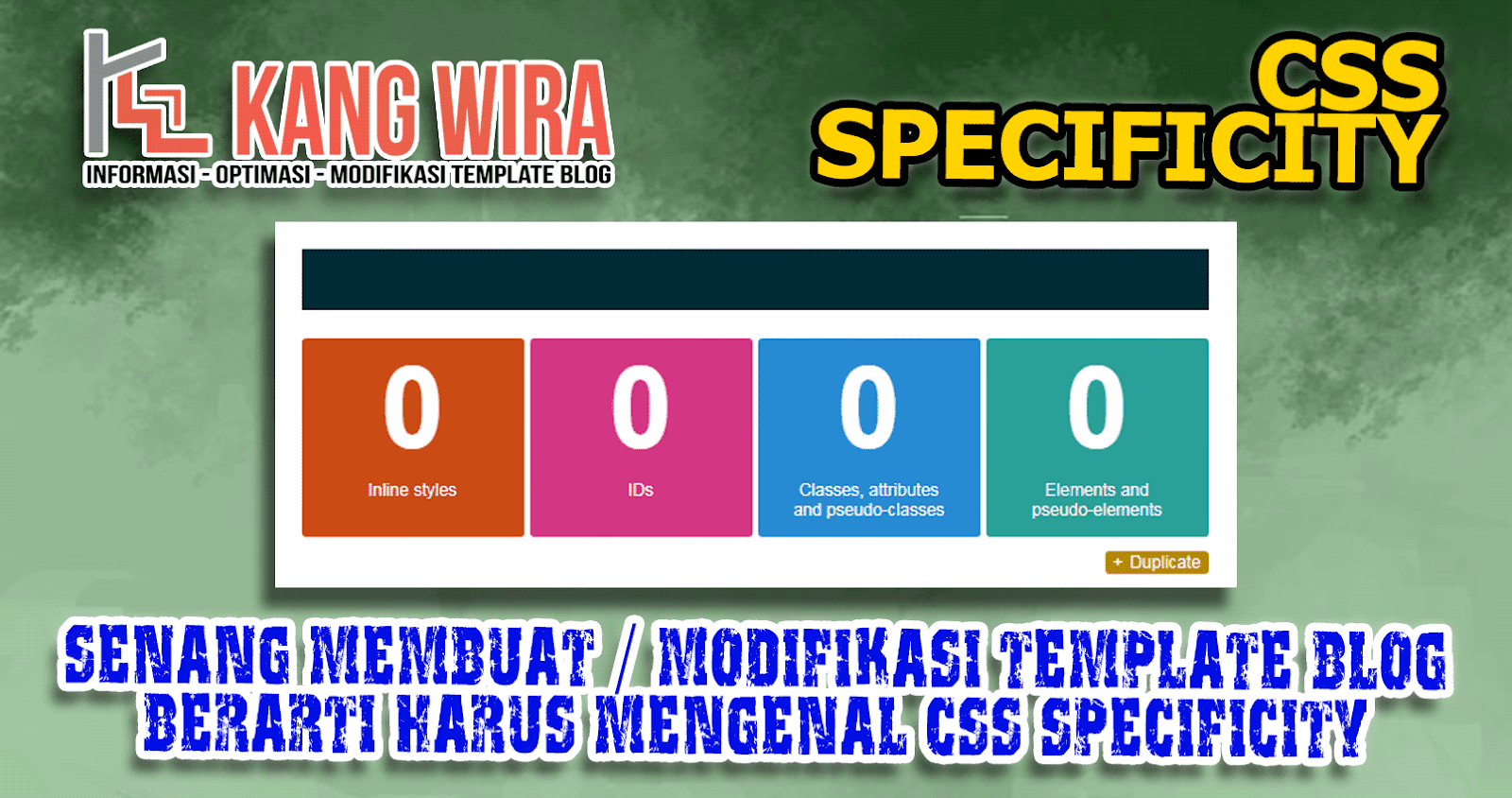 Mengenal CSS Specificity