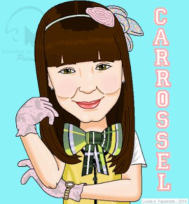 """Caricatura da personagem Maria Joaquina, de """"Carrossel"""""""