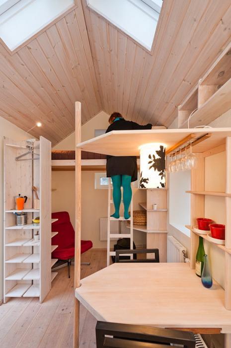 Scandinavian Small House Design: Rainboeliza: Lust A Small Space: Swedish Student