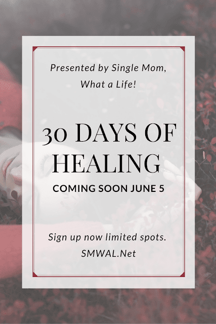 30 Days of Healing is a free course for women who are going through something or went through something that has their mental state thrown off, this could be divorce, losing a friend, or getting into a car wreck. As a way to get more women taking care of their own health (and in honor of hitting 200 posts), I will be giving away Spa's in a box for those who sign up for the course. The spas in the box will come with body butter, coloring book, colored pencils, and more. I cannot wait to start this journey with you!
