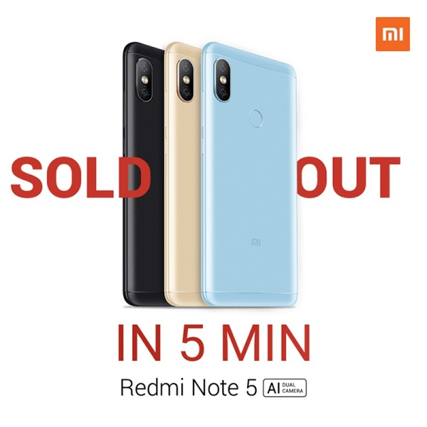 Xiaomi Redmi Note 5 Sold Out in Just 5 Minutes in PH!