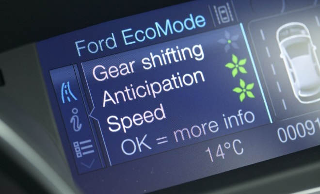 Ford EcoMode information panel