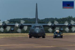 Polish Airforce C-130E transport heavy lift RIAT Fairford airshow air display