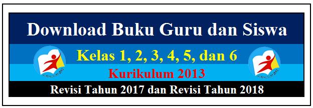 Download Buku Guru dan Siswa Kelas 1, 2, 3, 4, 5, 6 K13 Revisi 2017 dan 2018