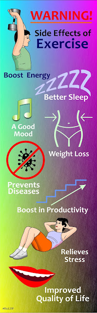 infographics side effects of exercise