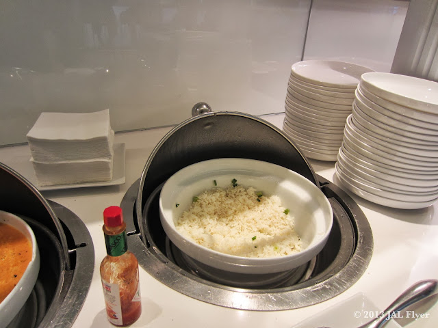 JAL Business Class trip report on JL061 - Fragrant rice at oneworld Business Class Lounge at Los Angeles TBIT