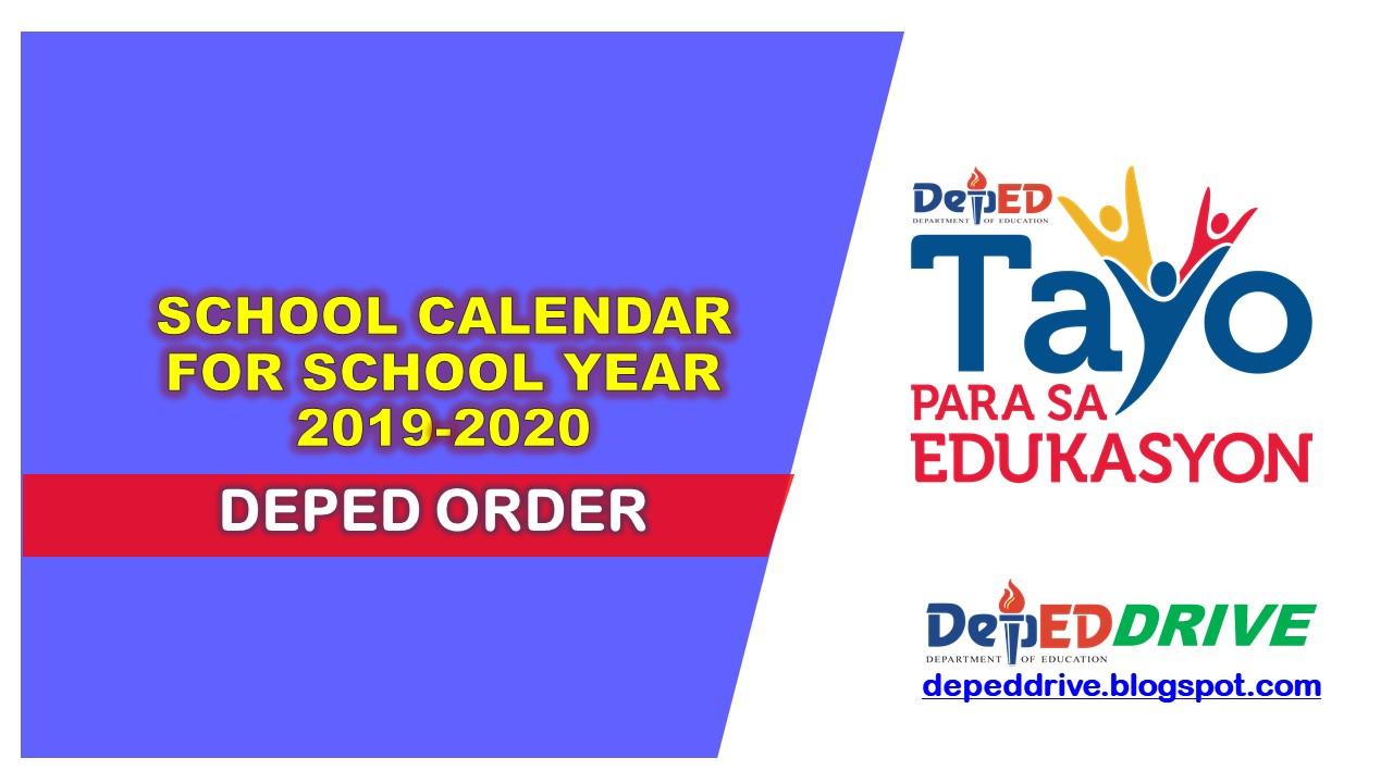 School Calendar for School Year 2019-2020 - DEPEDTAMBAYANPH