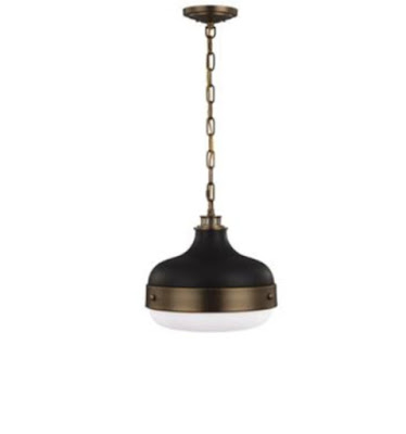 black brass and white pendant lights