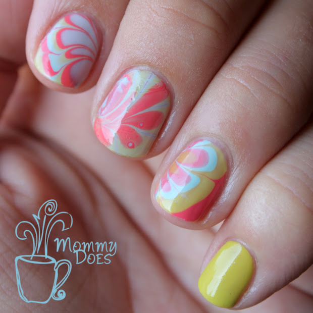 mommy nails water marble.fail