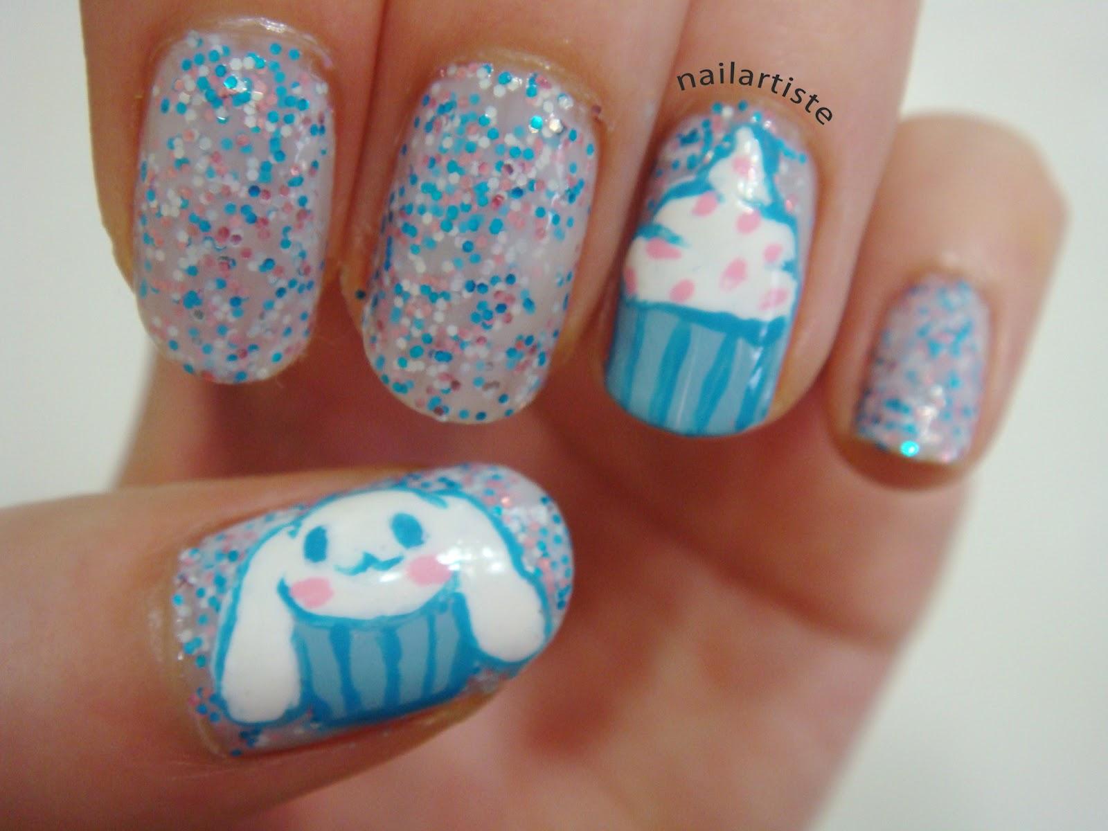 The Nail Artiste: Nail Art: Cinnamoroll Cupcake with Nails ...