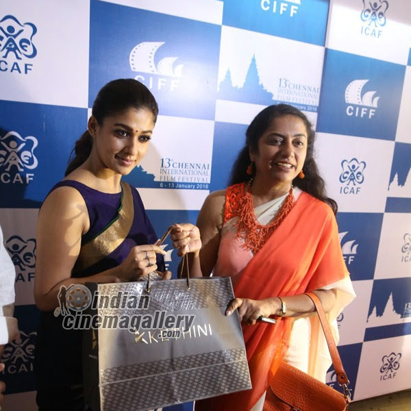 Nayanthara latest photos from 13th Chennai International Film Festival Closing Ceremony